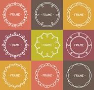 彩色花纹框架矢量图片