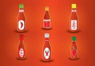 瓶子矢量图片