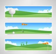 高尔夫球场banner矢量图片