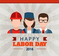劳动节工人海报矢量图片
