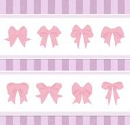 蝴蝶结装饰花边矢量图片