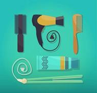 美发护发工具矢量图片