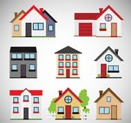 卡通私人住宅矢量图片