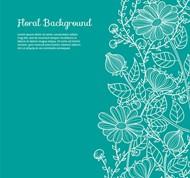 手绘菊花背景矢量图片