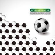 蜂窝足球矢量图片