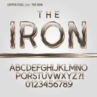金属质感字体矢量图片