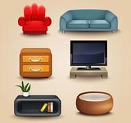 现代家具矢量图片
