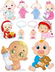 卡通婴儿矢量图片