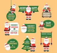 圣诞老人标签矢量图片