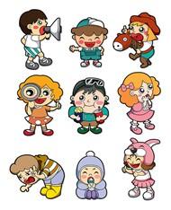 卡通儿童设计矢量图片