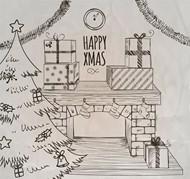 圣诞节客厅矢量图片