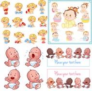 时尚卡通婴儿矢量图片