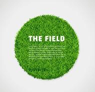 圆形绿色草坪矢量图片