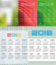 2016年日历矢量图片