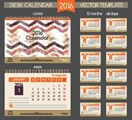 2016年台历模板矢量图片