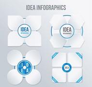白色花形信息图矢量图片