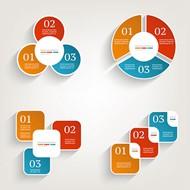 商务信息图表矢量图片