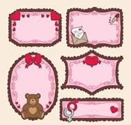 粉色空白留言卡矢量图片