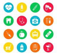 圆形医疗图标矢量图片