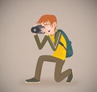 摄影的男子矢量图片