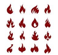 火焰图标矢量图片