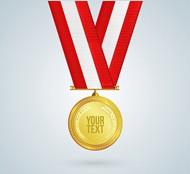 金色奖杯奖牌矢量图片