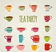 彩色茶杯矢量图片