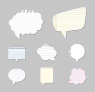 纸质语言气泡矢量图片