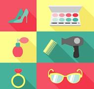 女性物品矢量图片