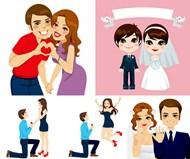 幸福情侣人物矢量图片