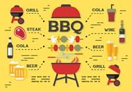 BBQ烧烤用品矢量图片
