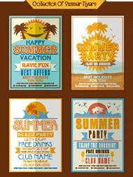 夏季主题pop海报矢量图片