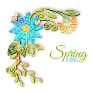 花朵花边装饰矢量图片