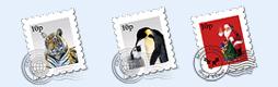 动物邮票图标