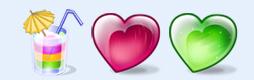心形晶透水果图标