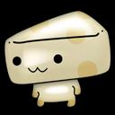 可爱的奶酪小人图标