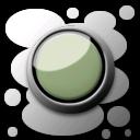 墨绿环形纽扣苹果图标