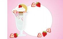 冰淇凌f粉色背景图片