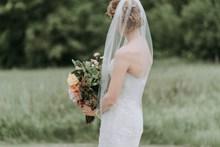 户外个人婚纱背影高清图
