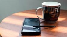 黑色商务咖啡杯图片
