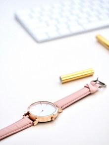 女士皮带手表精美图片