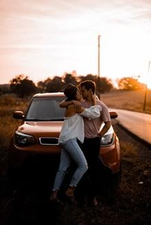 热恋情侣唯美图片素材