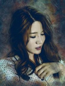中国美女油画肖像高清图片