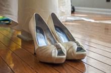 细高跟白色婚鞋图片大全