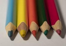 彩色铅笔特写图片