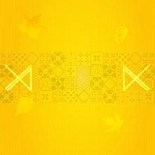 黄色花纹背景素材图片