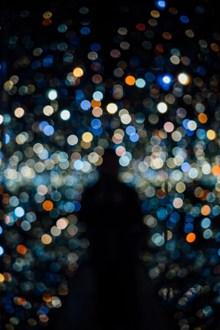 霓虹灯点状光斑夜景图片大全