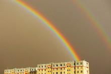 天空彩虹局部图片素材