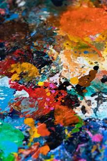 彩色油彩颜料背景高清图