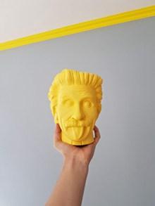 黄色头像雕塑图片素材
